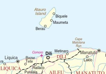 Localização de Ataúro