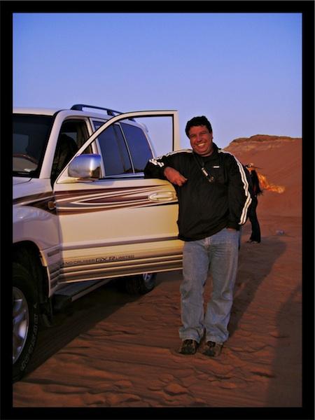 No deserto perto de Dubai