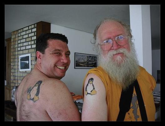 As tatuagens do Tux