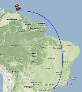 Mapa da rota