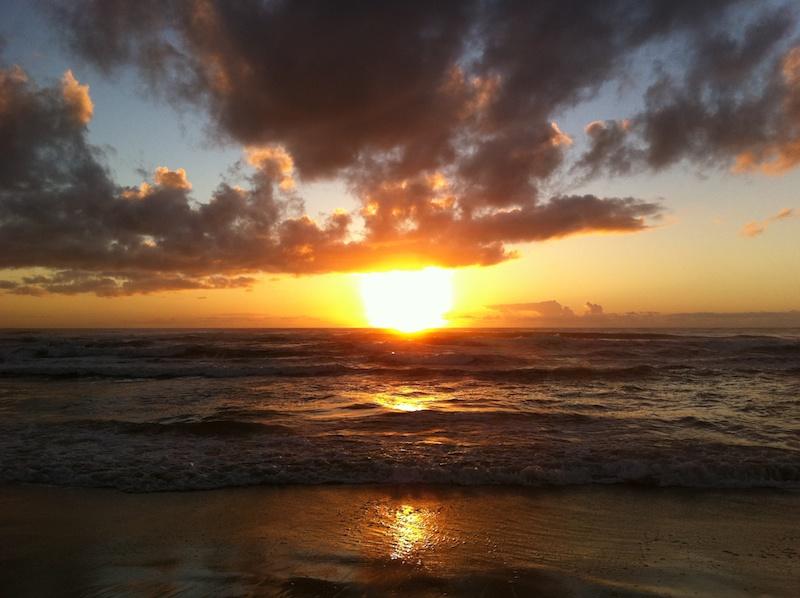 Manhã de sol na praia do Campeche - Floripa