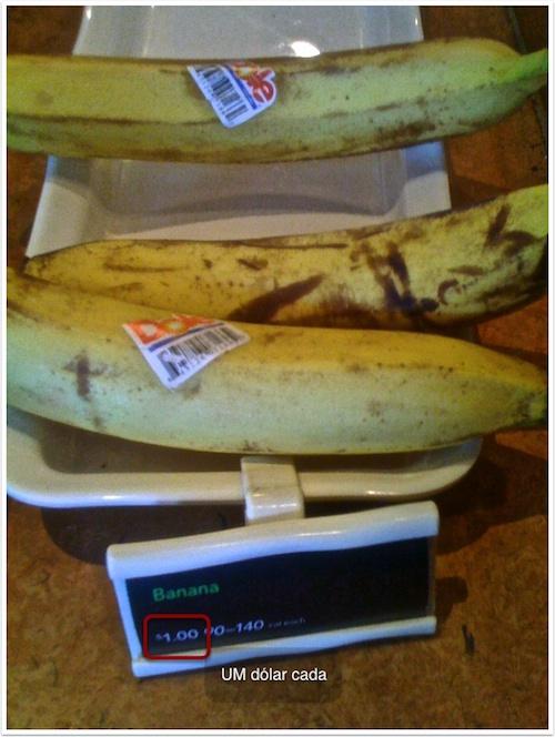 Bananas no Starbucks em NYC
