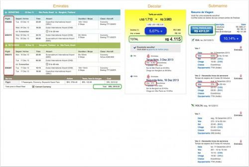 Comparativo voos internacionais (clique para ampliar)