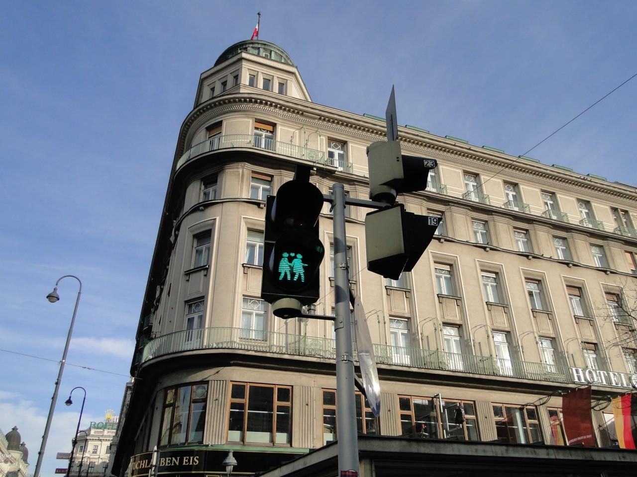 Semáforo em Viena - Áustria